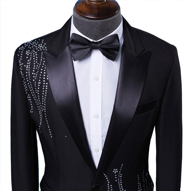 Men's Rhinestone Design Suit