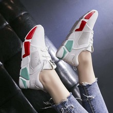 Women sneakers 2019 new fashion lightweight sports shoes Harajuku style wild color breathable casual