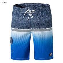 Mens Board Shorts Swimsuit 2019 New Print For Men Summer Breathable Elastic Waist Surf Man Running Pants 3XL