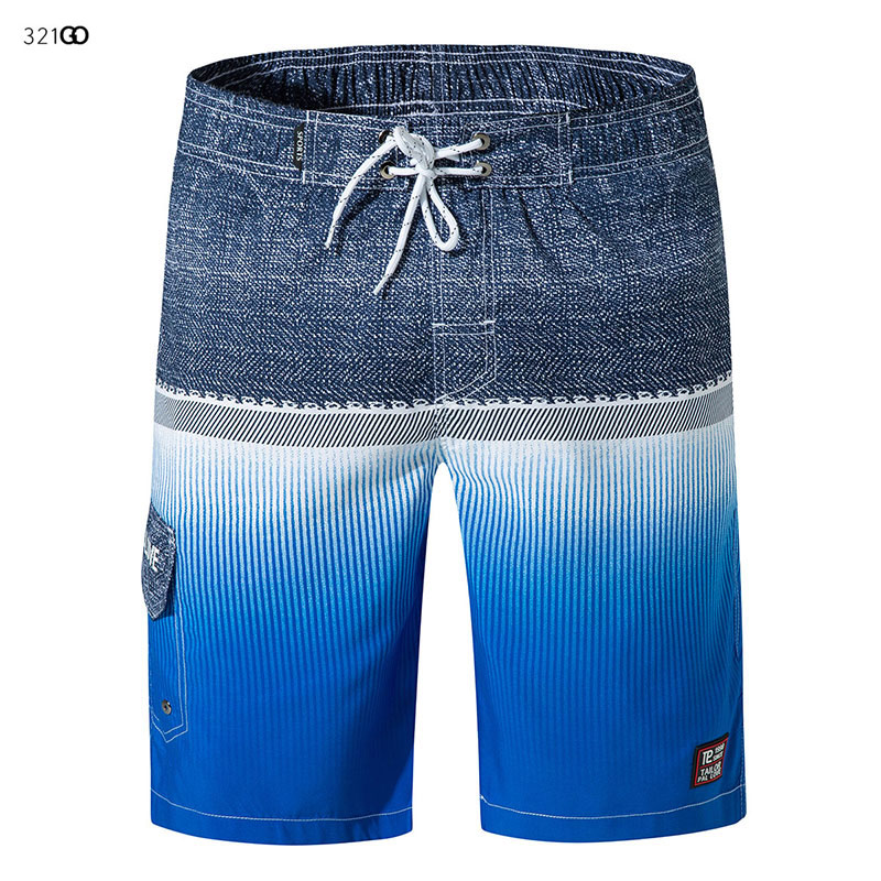 Men's   Board     Shorts   Swimsuit 2019 New Print   Shorts   For Men Summer Breathable Elastic Waist Surf Man   Shorts   Running Pants 3XL