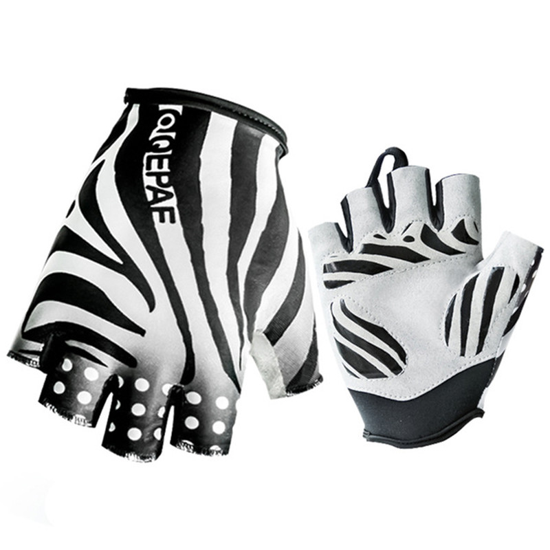 Cool Qepae Mountain Bike Bicycle Gloves Sport Half Finger Cycling Gloves Breathable Gel Pad Motocycle Gloves guantes ciclismo