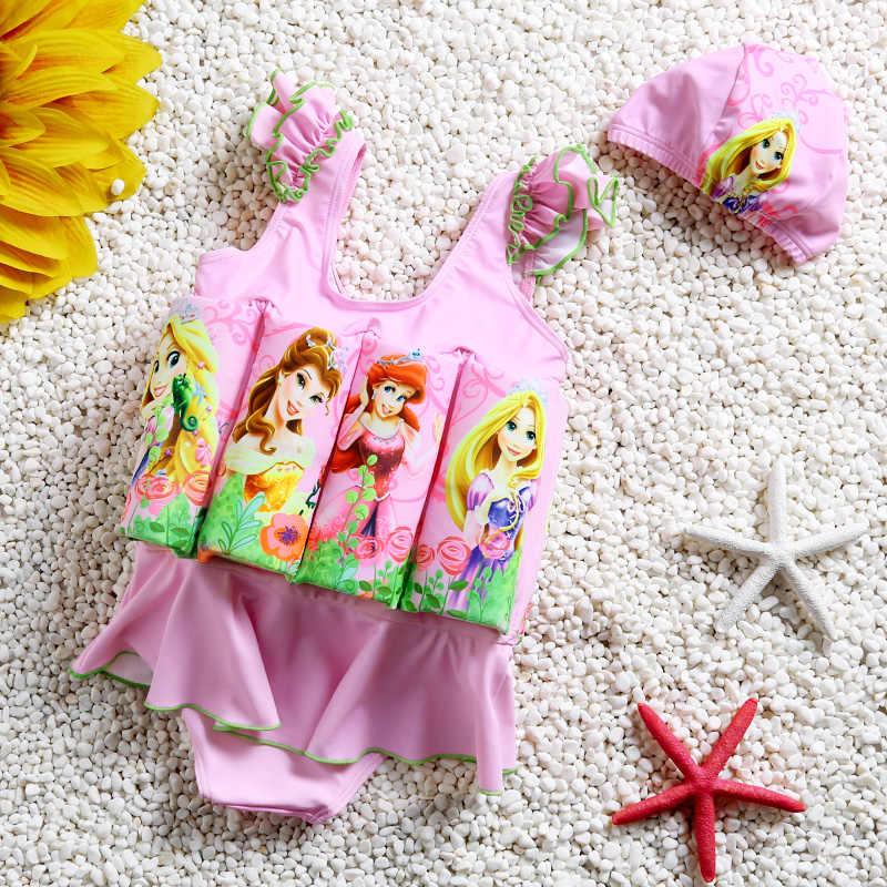 Детский купальник, плавающий купальник, Цельный купальник для маленькой девочки, плавное Купание и плавание, костюм, платье для маленькой девочки, купальник
