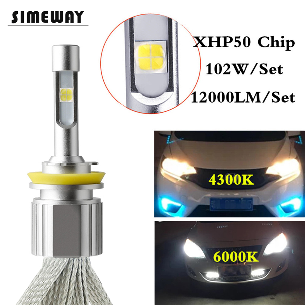 Car LED H4 4300K bi led bulbs 12000LM H11 H8 XHP50 Chips for H7 55W Headlight 9005 9006 H1 H11 D2S 9004 H13 Automobile Fog Light-in Car Headlight Bulbs(LED) from Automobiles & Motorcycles on AliExpress - 11.11_Double 11_Singles' Day 1