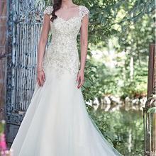 La MaxPa Elegant Organza Sweetheart Neckline A-Line dresses