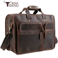 Европейские и американские деловые путешествия большие сумки человек Crazy Horse кожа 17 ноутбук сумки портфель марки Extra Large сумки