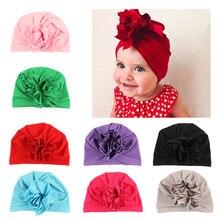 Fiore indiano Bandane Cappello Beanie di Lavoro A Maglia bambini knot  turban della fascia dei capelli 75a985066a87