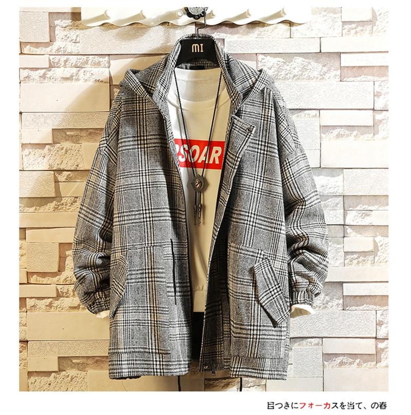 Male Long Coat Oversize Lapel Button Sobretodos Hombre Overcoat Streetwear (41)