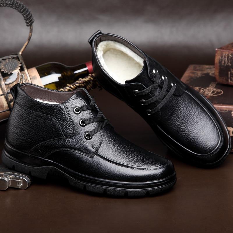 Super Inverno Botas Zapatos De Casuais Macio Quente Sapatos Dos Couro Genuíno Homens 2 Neve Meil 1 Hombre dIqfBwxEd