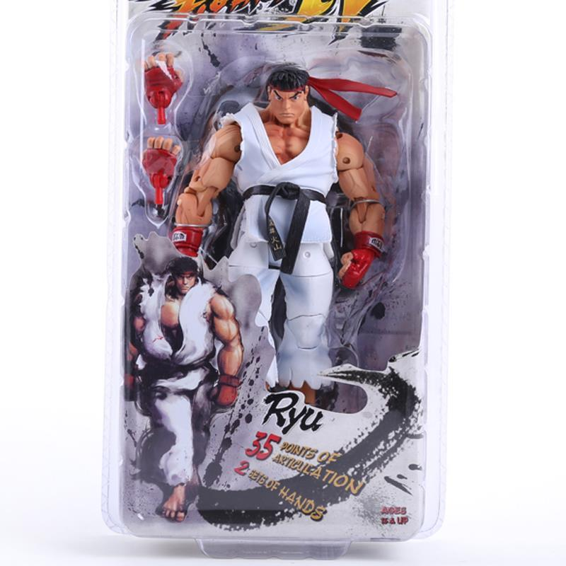 NECA Player Select Street Fighter IV Survival Model Ken Ryu Guile Action Figure Toy 7 18CM ultra street fighter iv цифровая версия
