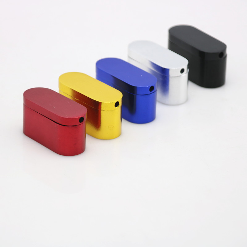 1 Stück Heißer Metall Faltbare Aluminium Pfeife Tragbare Mini Kraut Mit Bildschirm 5 Farben Rauchen Werkzeug Wasserpfeife Billig Tabak Rohr