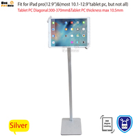 Tablet Stand Kiosk Mount Floor stand for most 10.1 12.9tablet holder security with lock stand for samsung Asus Surface Pro Acer