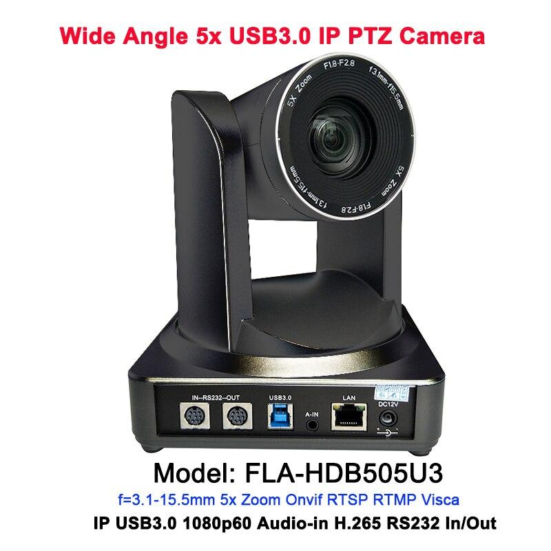 Équipement de vidéoconférence de salle de conférence USB3.0 IP PTZ caméra 2MP grand angle 5x zoom optique