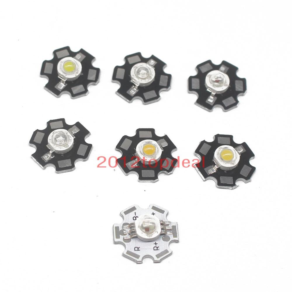 10x Hi-Power LED 3W Royalblau STAR 445-455nm 120lm