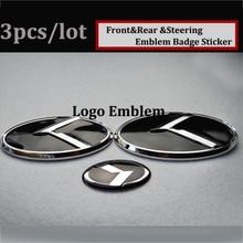 Hot selling 3pcs OPTIMA K2/K3/K4/K5 sorento car Trunk Emblem 3D sticker Boot Logo Hood Steering Wheel Label Bonnet Cover