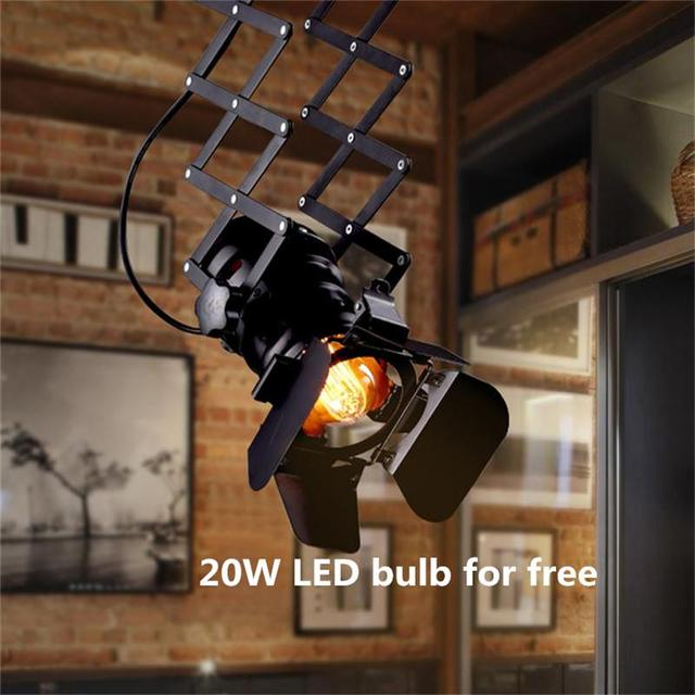 Loft art industrial led track lighting showrooms clothing store bar loft art industrial led track lighting showrooms clothing store bar restaurant spotlights american vintage four leaf aloadofball Gallery