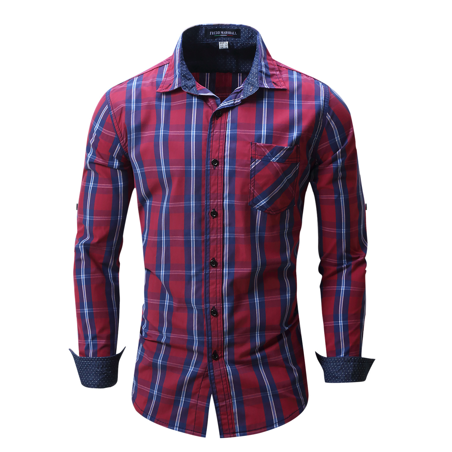 Fashion mens dress shirt fredd marshall luxury man 39 s for Expensive mens dress shirts brands