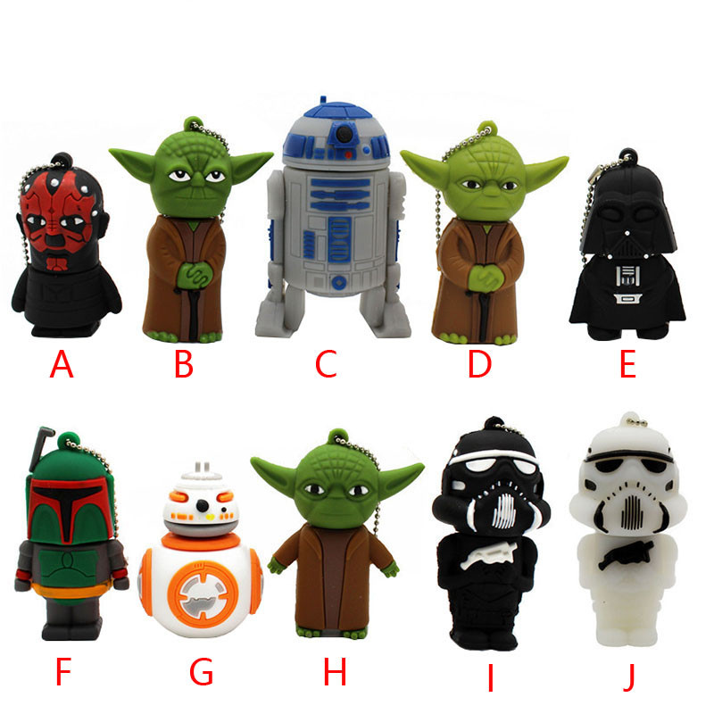 Wars Star Yoda Darth Vader Pendrive 4G 8G 16G 32G 64G Usb 2.0 Usb Flash Drivdriveck Pendrive