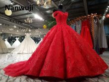 Real Photo cap Sleeve Beaded Ball Gown Evening Dress Luxury  Cap Red Eevening Dresses Crystal Size Plus