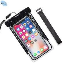 Custodia impermeabile trasporto libero Per Sumsung iPhone Huawei Honor Xiaomi Redmi a prova di Acqua Sacchetto Del Sacchetto Della Copertura Coque A Secco Macchina Fotografica Impermeabile della Cassa Del Telefono