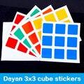 Dayan v5 zhanchi cubo de la velocidad mágica pegatinas pvc 3x3x3 cubo de soporte y adhesivo