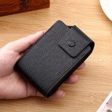 2019 NEW PU Leather Card Holder high quality Business Credit Card id Holder Men Wallet Bank Card Case Women porte carte цена в Москве и Питере