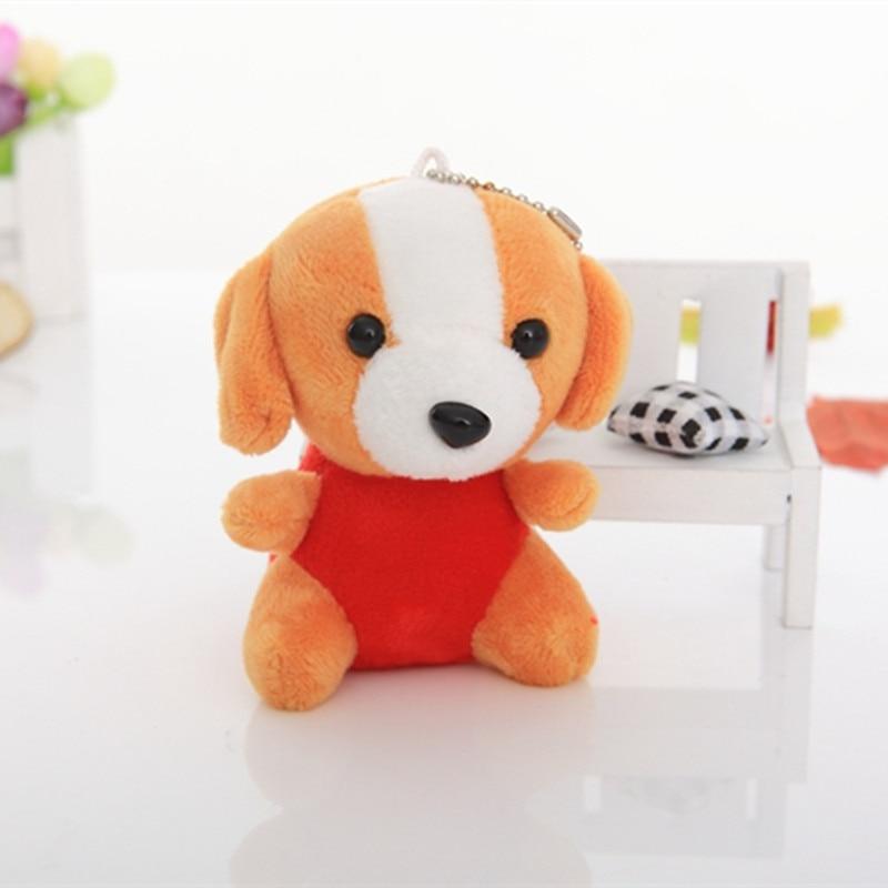 12cm 1pcs Plush Toy Simulation Dog Baby Sleeping Appease Doll Kids Birthday Gifts Bells wedding dolls soft cute on bag/car