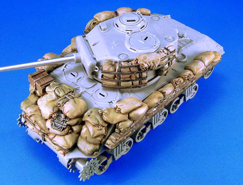 1/35 Scale Unpainted Resin Kit Sandbag Armor For WWII Sherman  M4A3 (NOT INCLUDE TANK)