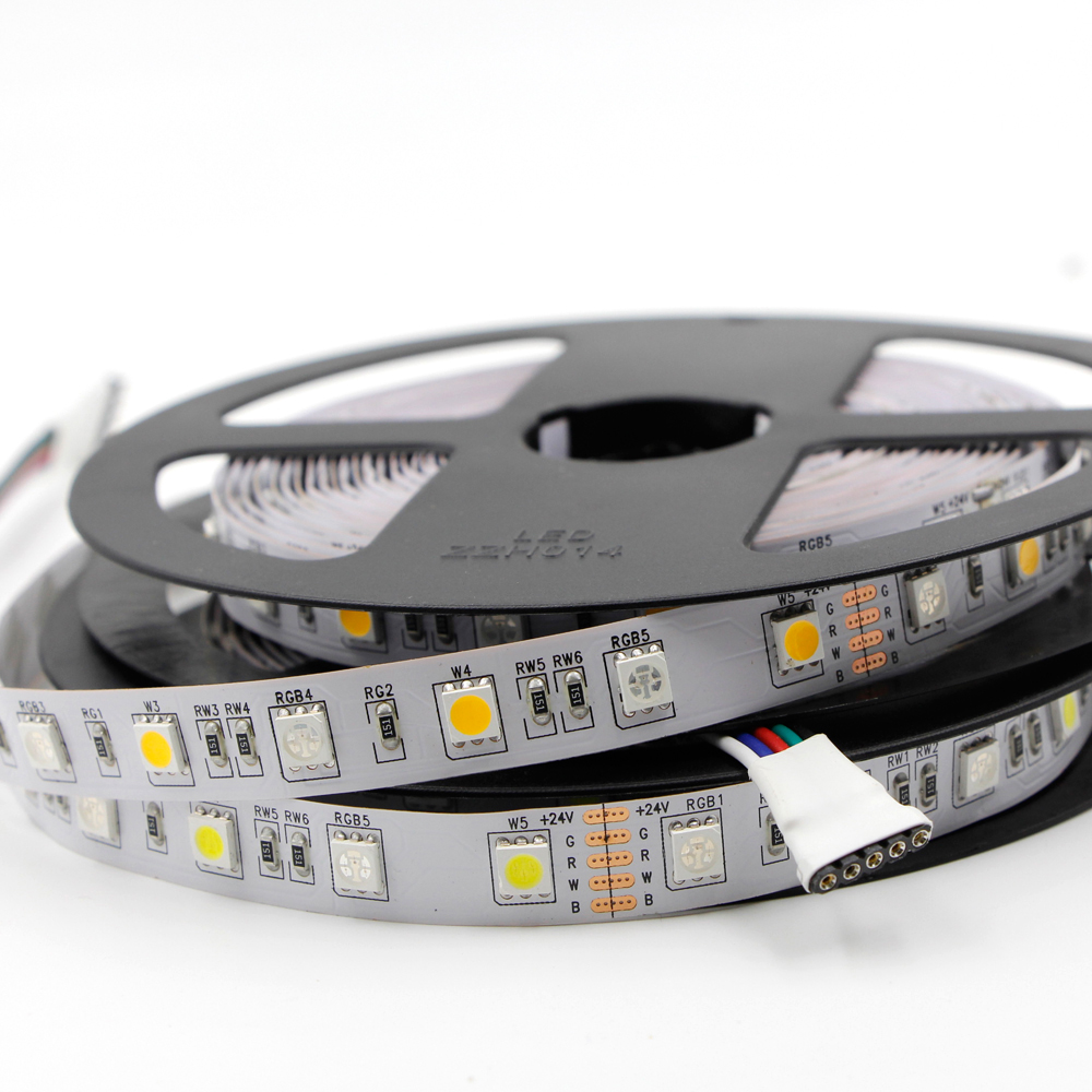 цена на 1m 2m 5m RGBW RGB Led Strip Light DC 12V 5050 SMD Led Tape Flexible Light waterproof Home String Ribbon xmas Car lamp