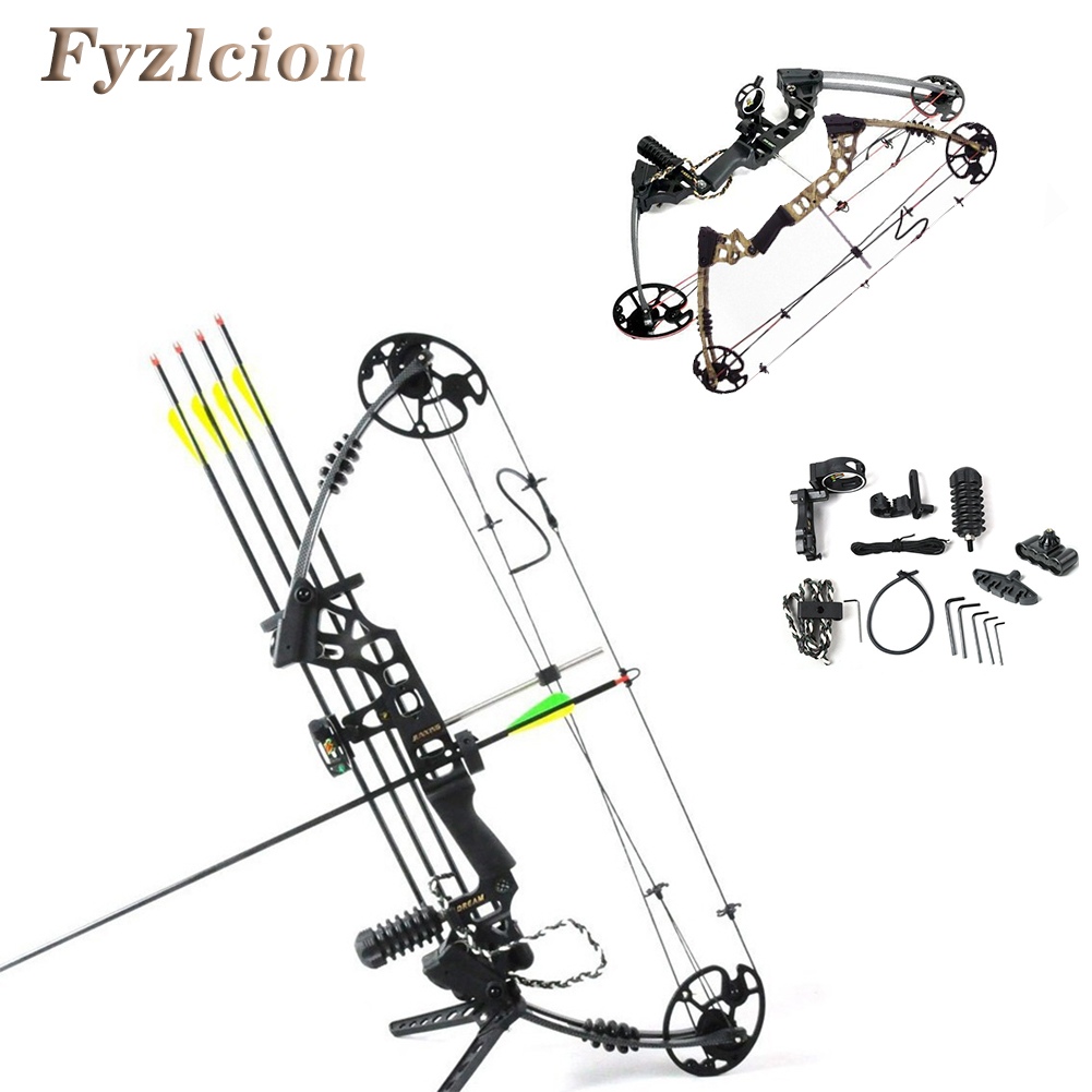 Topoint Archery Dream Aluminum Alloy Compound Bow With 20-70 lbs Draw Weight Camo And Black Color for human outdoor hunting отсутствует художественная обработка металла опиливание
