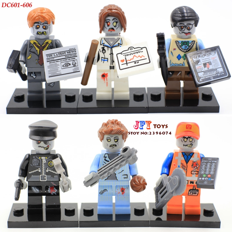 6pcs star wars super heroes zombie world The Walking Dead Series building blocks model bricks toys for children juguetes super heroes angel spike willow corderlia buffy the vampire slayer series building blocks collection toys for children kf6018