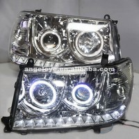 2006 2007 Year For Toyota Land Cruiser LC100 4700 FJ100 LED Headlights Chrome Housing