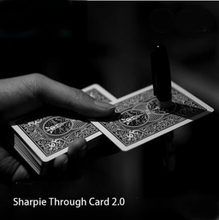 Sharpie Through card 2.0(Gimmick Card+ Instruction+Pen) Magic Tricks Funny Close Up Illusions Mentalism Gimmick Props Magicians(China)