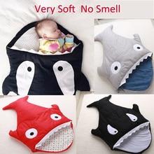 Cute Soft Winter Cotton Infant stroller Baby Sleeping Bag Sharks Newborns Bedding Swaddle Blanket sleepsacks warm sack