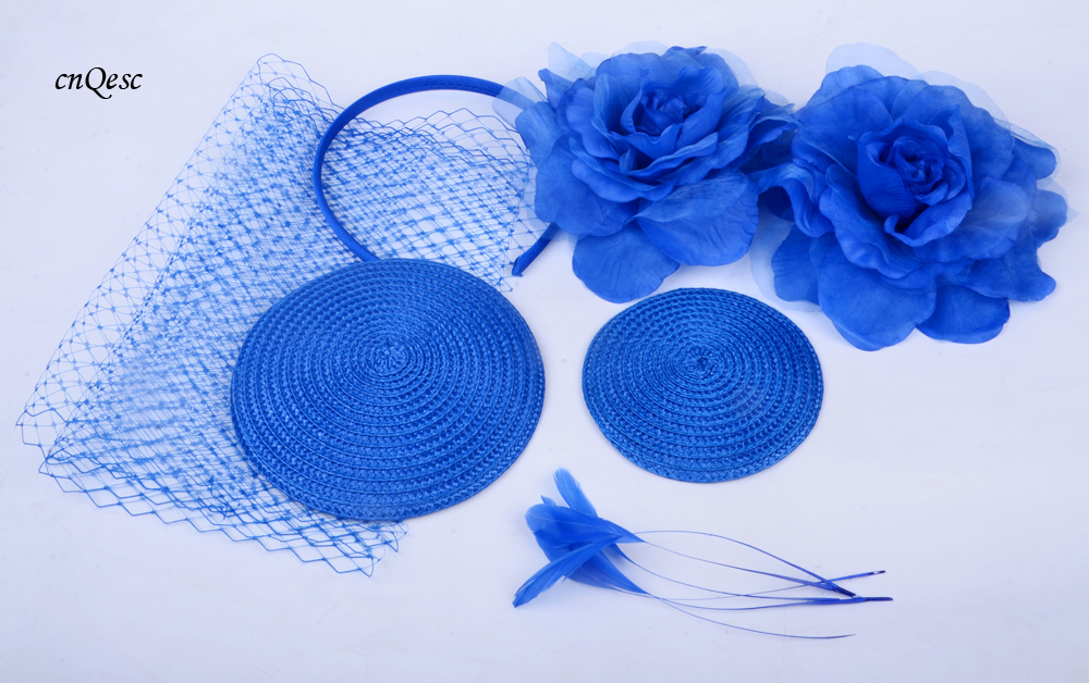 Wholesale Attractive multiple color Royal blue DIY sinmay fascinator hat  bridal fascinator for wedding Races party.FREE SHIPPING e0228fcf61d