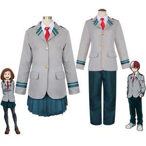 Image 2 - Boku no Hero Academia AsuiTsuyu Yaoyorozu Momo School Uniform My Hero Academia OCHACO URARAKA Midoriya Izuku Cosplay Costume