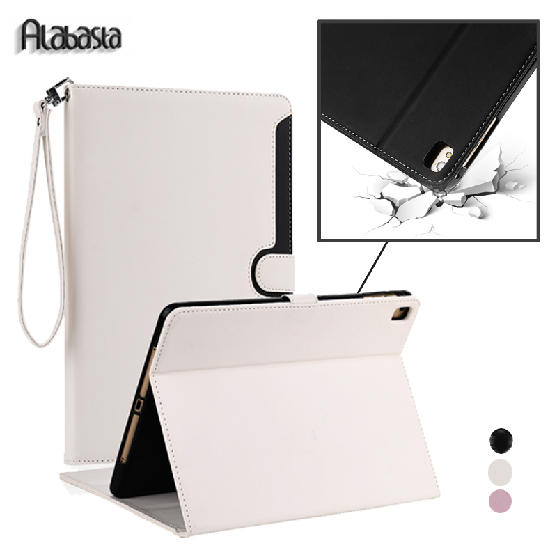 Alabasta Strap Leather Case for funda iPad 2 3 4 Luxury Flip Stand Case Auto Wake Smart Cover With touch pen for ipad 234 alabasta for funda cover ipad 2017 case 9 7 inch luxury grid tassels rhinestone bag stand protector leather surface shield