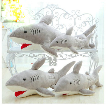 High Quality Big Size White Shark Plush Doll 100% PP Cotton Shark Plush Stuffed Pillow Toy Doll Baby Toy Birthday Gift/Baby Gift 1pcs 30cm despicable me 2 stuffed plush toy doll film anime minions pea banana style cotton hold pillow baby kids gift