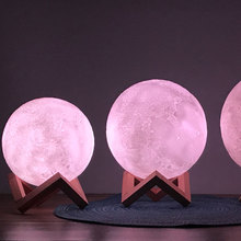 Moon light REMOTE with 16Colors decorative Usb holiday Lamp Creative dream table lamp colorfully Touch Decor baby Bedside