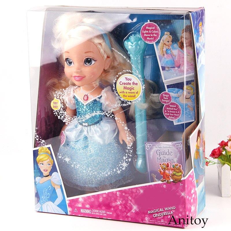 Baguette magique cendrillon Figurine avec lumière et son PVC Action Figure princesse figurines jouets pour enfants