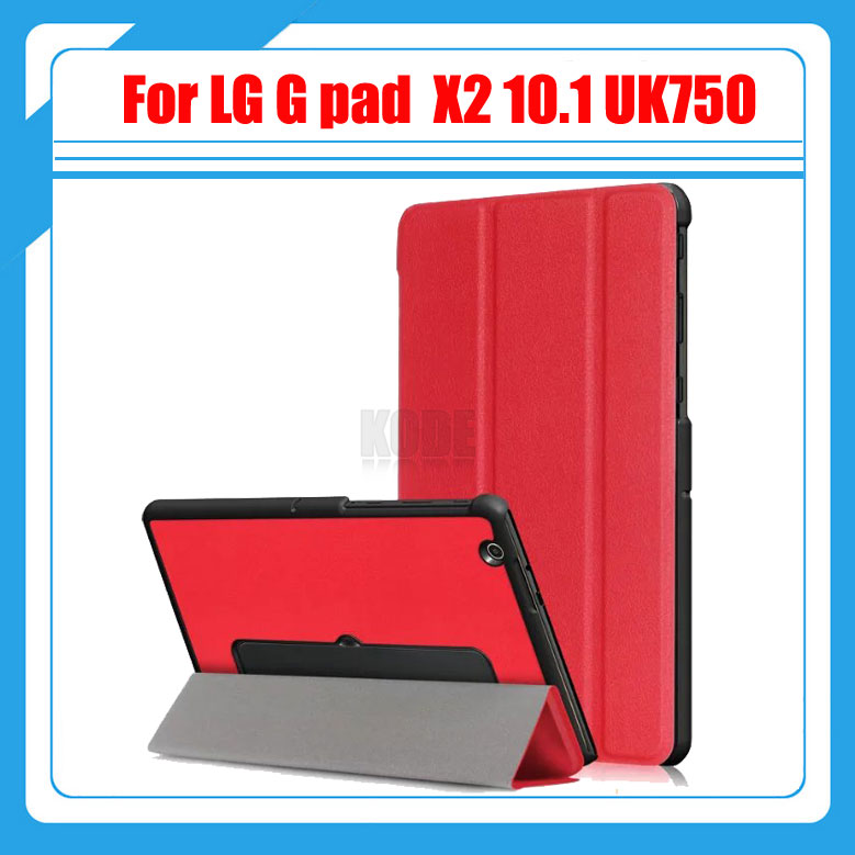 3 in 1 Slim Magnetic Pu Leather Case Stand Cover for LG G Pad X II 10.1 UK750 / G Pad 3 10.1 V755 Tablet +Protective film+Stylus