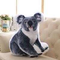 3D Dimensional pillow simulation koala plush toy large 50x45cm soft throw pillow gift 0629