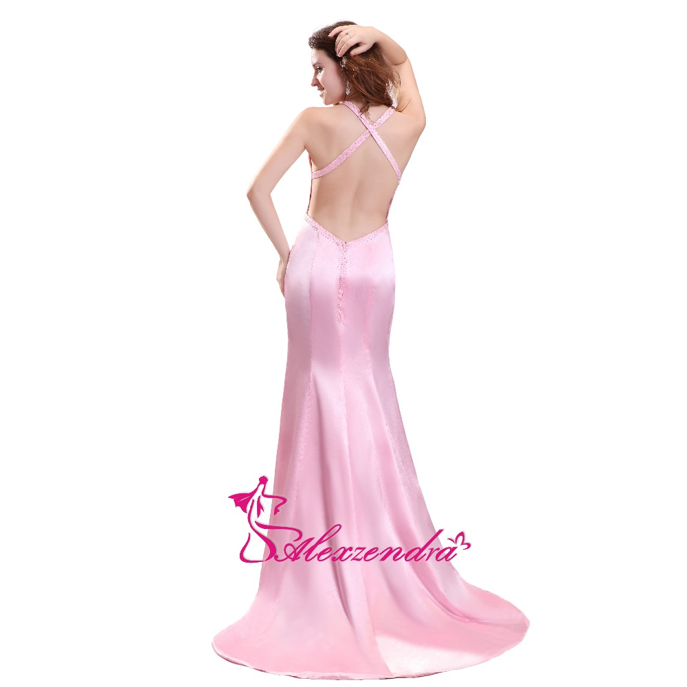 Alexzendra Pink Mermaid Sesy Prom Dresses Sweetheart Crossed Back Long  Party Dress Evening Dresses Plus Size-in Prom Dresses from Weddings    Events on ... c587a7547257