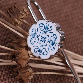 Marcapáginas de porcelana azul y blanco nostálgico vintage marca china único negocio regalo tendencia nacional metal regalos clásicos marcapáginas