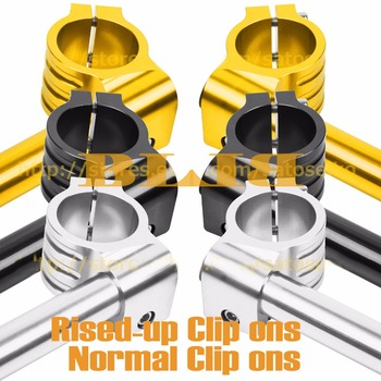 """7/8"""" 22mm Handlebar Clip Ons 41mm For Suzuki GSXR1100 G H J M N WP WR GV1200 Madura SV650 CNC Moto Grips Set Rised-up And Normal"""