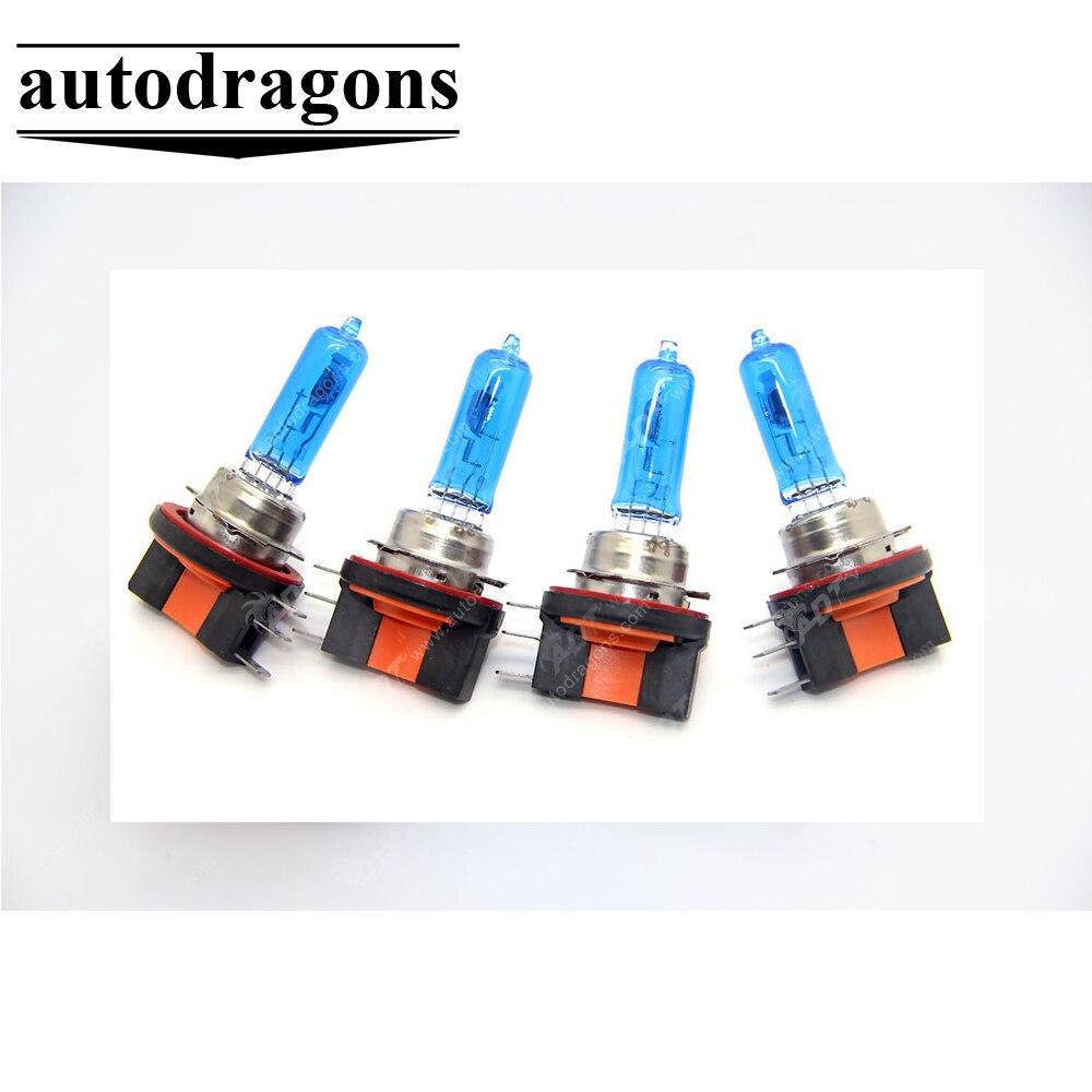 4 Piece 12V 15/55W H15 plasma Halogen Bulb 5800K Headlight Xenon lamp Dark Blue Glass Car Light Super White for toyota for vw