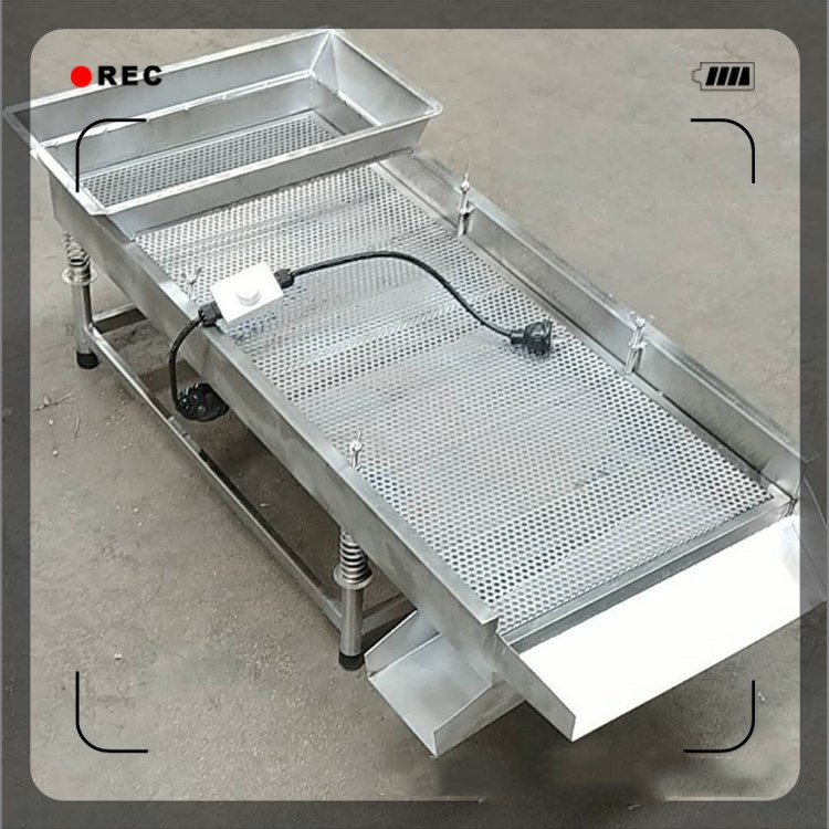 Linear Vibration Sieve Screen Size 30*75/40*95cm Stainless Steel Vibration Separator for Particle <font><b>Screening</b></font> and Grading image