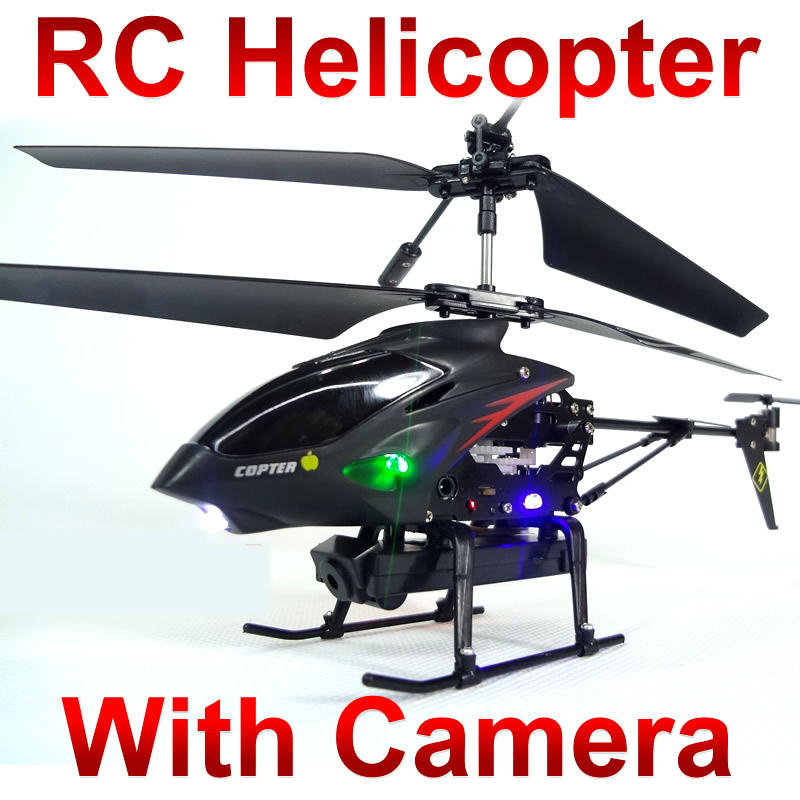 Remote Control toys video Metal Gyro 3.5 CH RC Helicopter With Camera wl s977 ID2 FSWB rechargeable 4 ch ir remote controlled r c helicopter w gyro black silver white