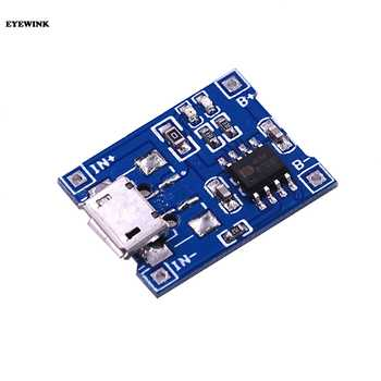 100pcs/lot Micro USB 5V 1A 18650 TP4056 Lithium Battery Charger Module Charging Board With Protection Dual Functions