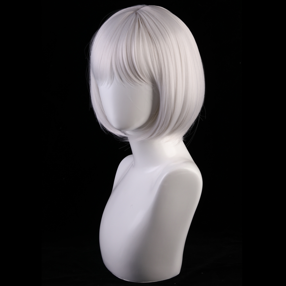 Image 4 - 30cm Azur Lane Cosplay Wig Kaga Women Hair Synthetic Silver Grey Short Bob Wigs Costume Lane Kaga Hairpiece-in Anime Costumes from Novelty & Special Use