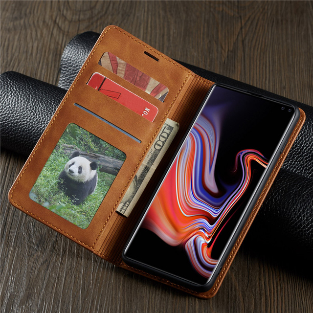Leather Flip Magnet Case For Samsung